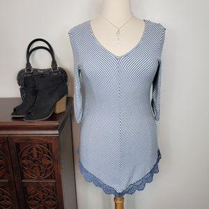 Style & Co Soft Stretchy 3/4 Sleeve V-Neck, XLP